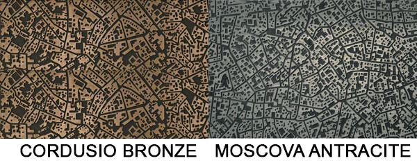 Piastrelle metalizzate tridimensionali City by Ceramiche Lea