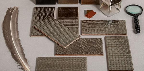Piastrelle metallizzate tridimensionali Metal 40 di Tonalite