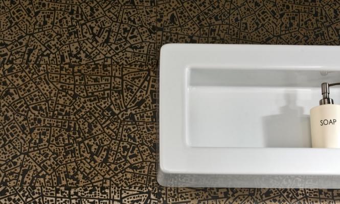 Piastrelle metalizzate tridimensionali City di Ceramiche Lea