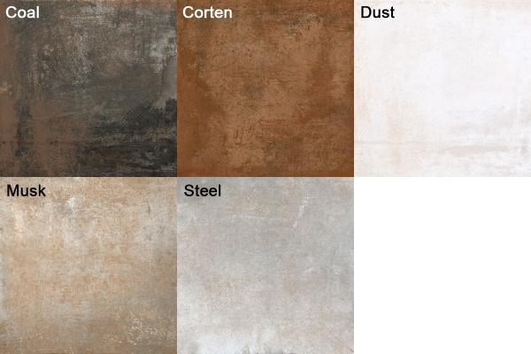 Colori delle piastrelle metallizzate Rust di Ceramica Rondine
