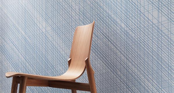 Piastrelle in gres con effetto tessuto a righe Slimtech Line di Lea Ceramiche