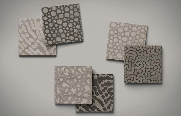 Piastrelle ispirate ai tessuti animalier Zoom Mix 20 Concreto di Lea Ceramiche