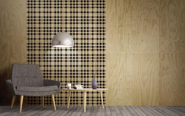 Grandi piastrelle in gres a effetto tessuto tartan I Pinocchi by 14oraitaliana