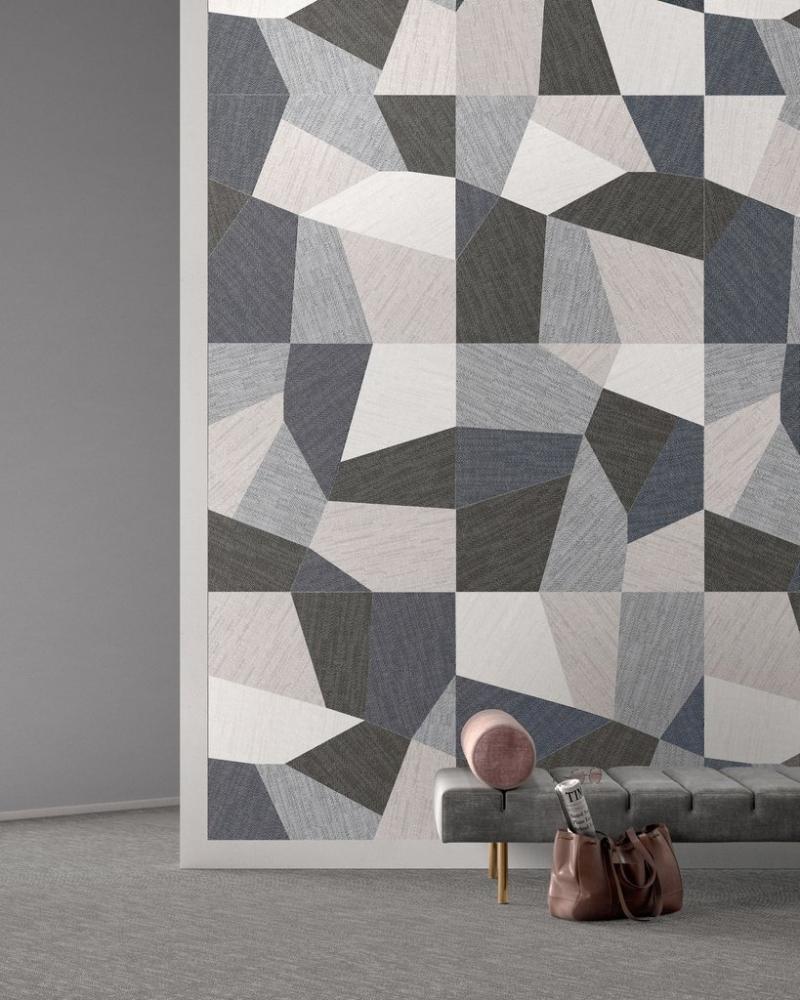 Piastrelle a effetto tessuto di denim Digitalart di Ceramica Sant'Agostino