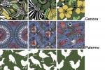 Pattern delle piastrelle a effetto tessuto Folk di 14oraitaliana