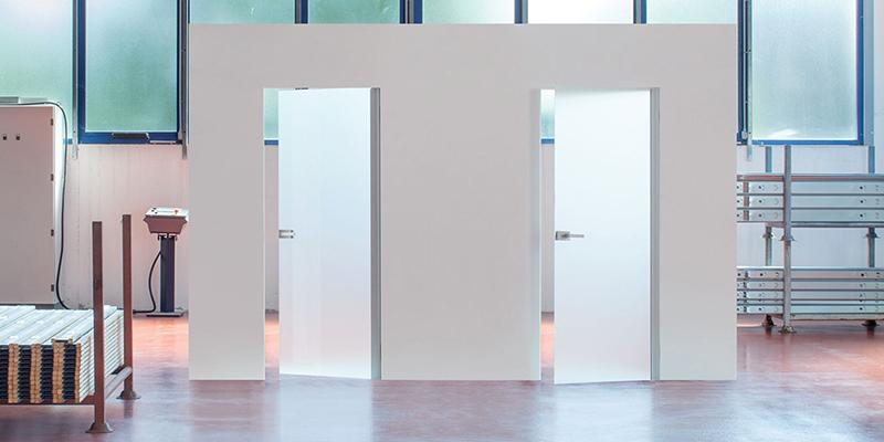 Porta filomuro Syntesis battente vetro - ECLISSE