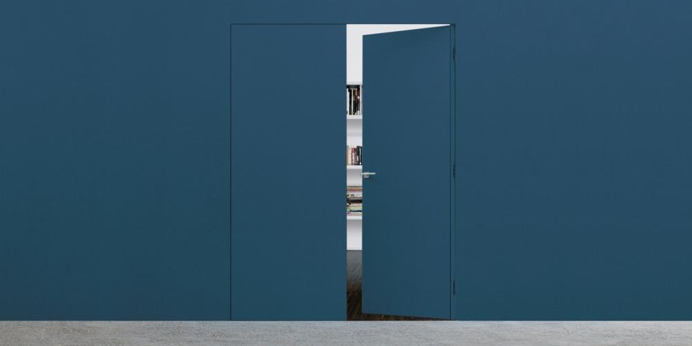 Porta filomuro Syntesis battente - ECLISSE