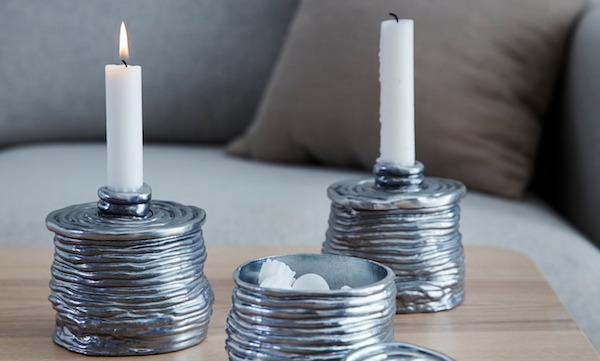 Candeliere in alluminio VÄRMER - Design e foto by Ikea