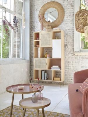 Libreria alta in rattan - Design e foto by Maisons du Monde