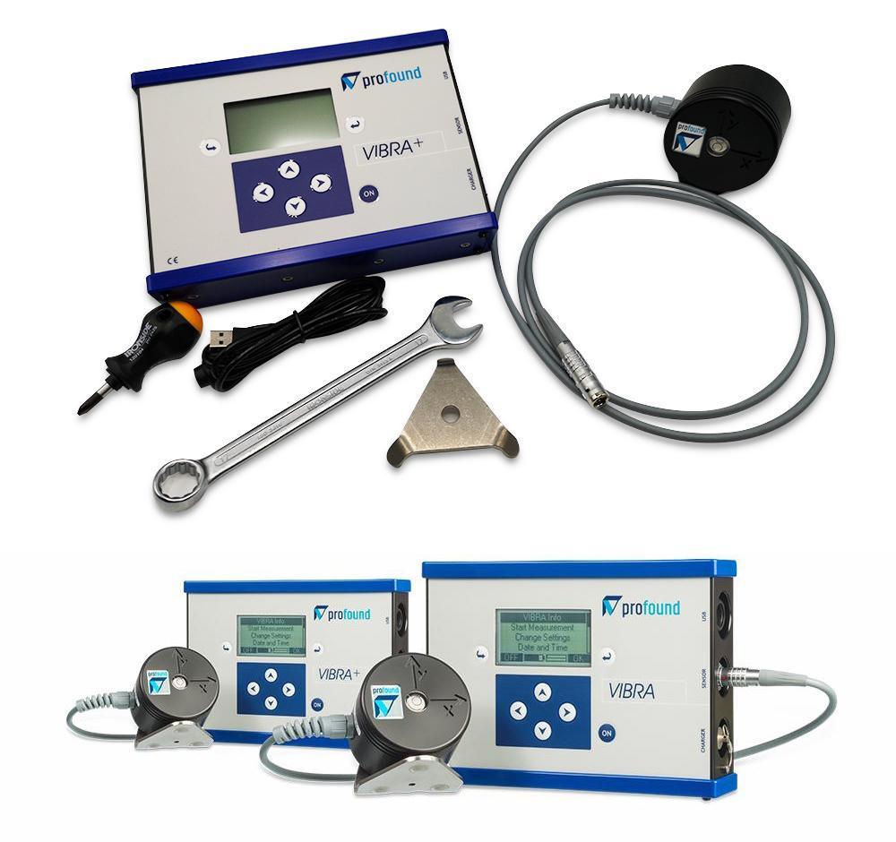 Centralina portatile VIBRA di Boviar per il monitoraggio delle vibrazioni