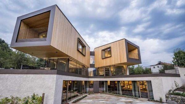 Progetto Schonbrothof, casa prefabbricata di Rubner