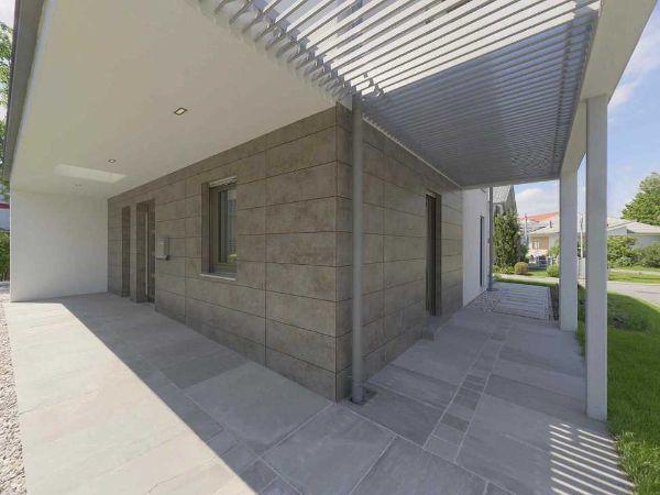 Spazio esterno di una casa prefabbricata vario Haus
