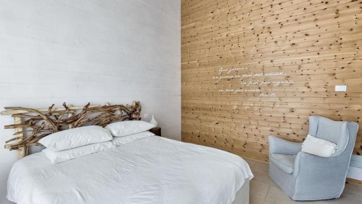 Interni di una casa prefabbricata in legno di Rubner
