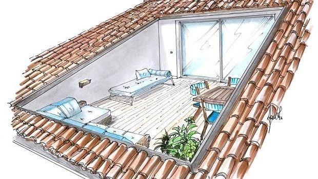 Come ricavare un terrazzo a pozzo valorizzando il sottotetto