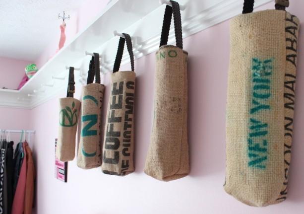 Idee fai da te juta: sacchi porta oggetti, da aftcra.com