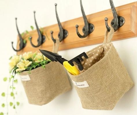 Idee creative con la juta: cestini, da lil-me.com