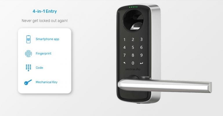 4 modalità di attivazione serratura Smart Lever di Ultraloq