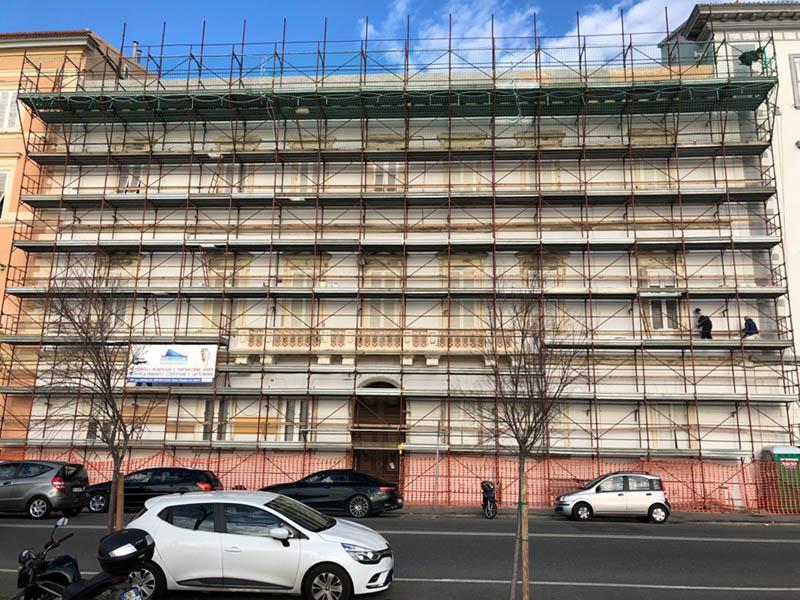 Risanamento facciata edificio - Volteco