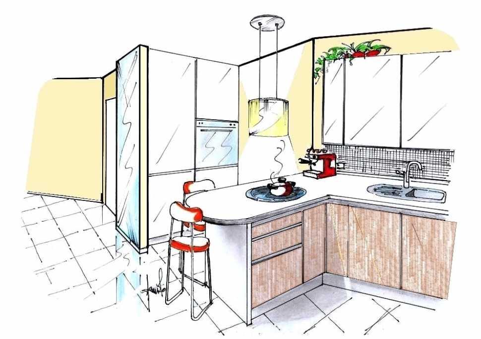 Ampliamento cucina: disegno di progetto