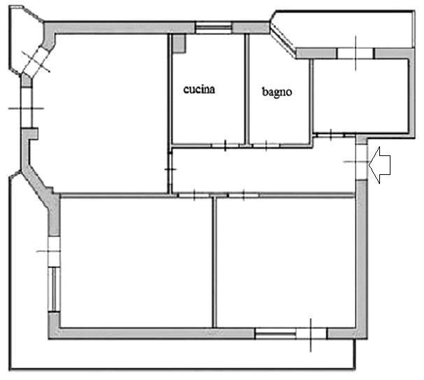 Appartamento pianta stato dei luoghi