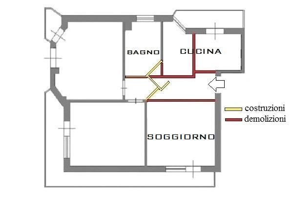 Progetto cucina: demolizioni e nuove costruzioni