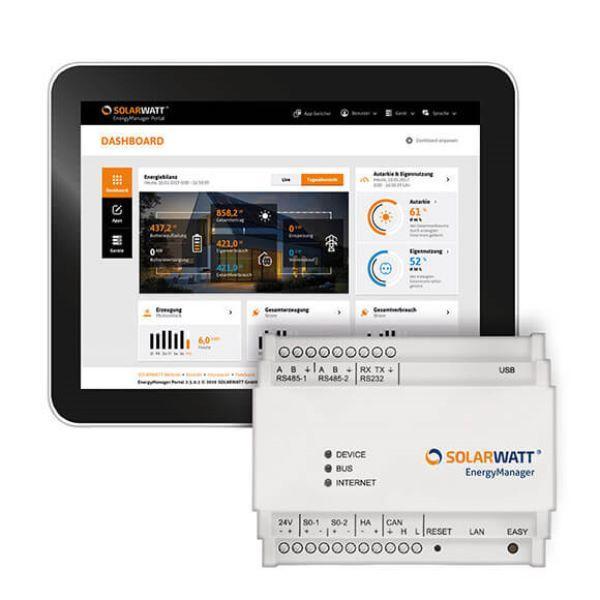 Sistema di controllo Energy Manager di SOLARWATT