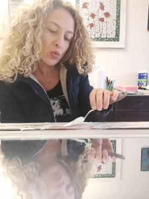 Luisa Verna al lavoro
