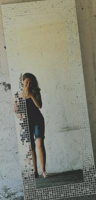 Specchio verticale a mosaico Luisa degli specchi