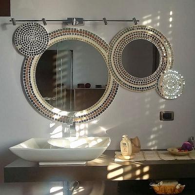 Specchio con lavorazione mosaico Luisa degli specchi