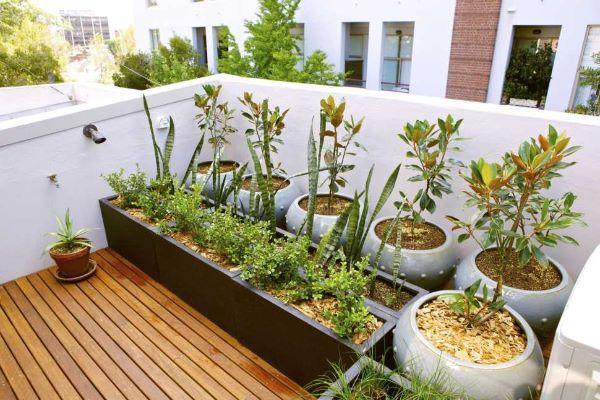 Balconi e sistemazione esterna a verde