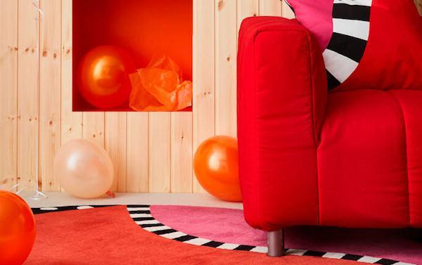 Divano KLIPPAN color rosso - Ikea GRATULERA 70'-80'