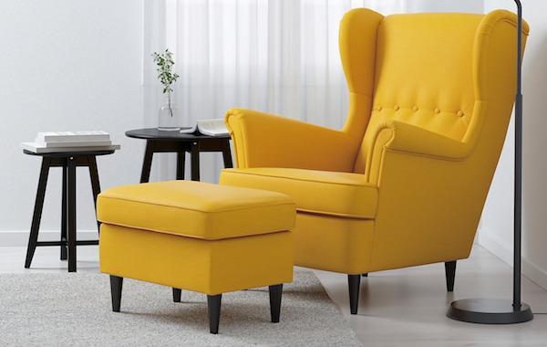 Poltrona e poggiapiedi STRANDMON - Collezione Ikea GRATULERA