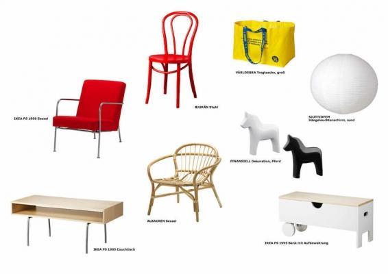 Prodotti della collezione Ikea GRATULERA dedicata agli anni 90'-2000