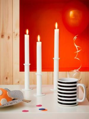 Tazza MORGENDOFT e portacandele TYNGDRAFT - Collezione Ikea GRATULERA