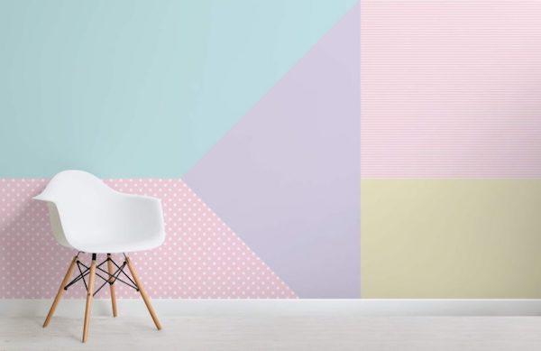 Carta da parati nuance pastello - Design e foto by MuralsWallpaper