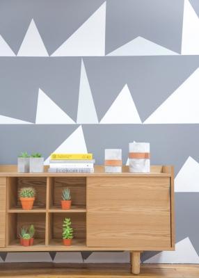 Trend interior design 2020: carta da parati, colori pastello e forme geometriche