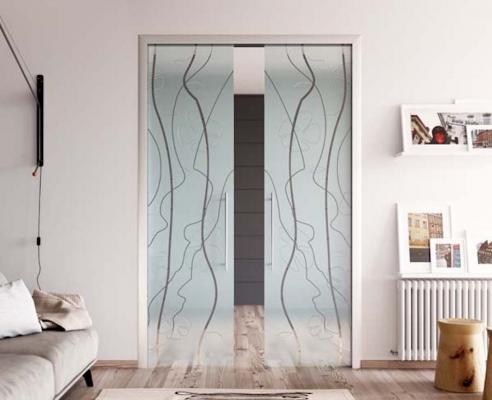 Porta da interno in vetro - Design e foto by Mr art design