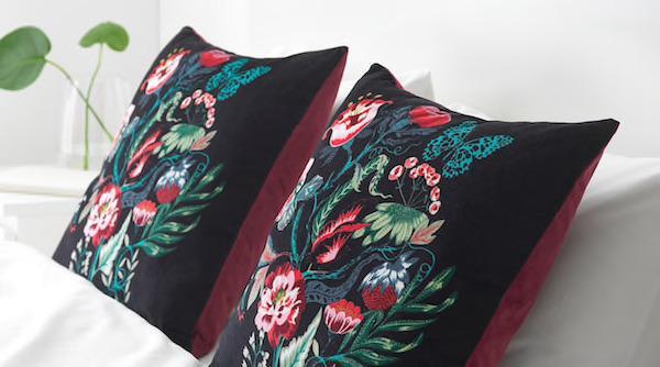 Cuscino in velluto SARALENA - Design e foto by Ikea