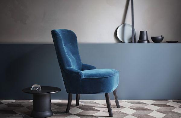 Poltrona in velluto REMSTA - Design e foto by Ikea