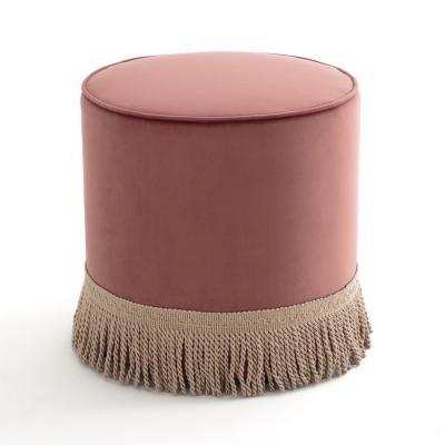 Pouf in velluto Ramona color palissandro - Design e foto by La Redoute