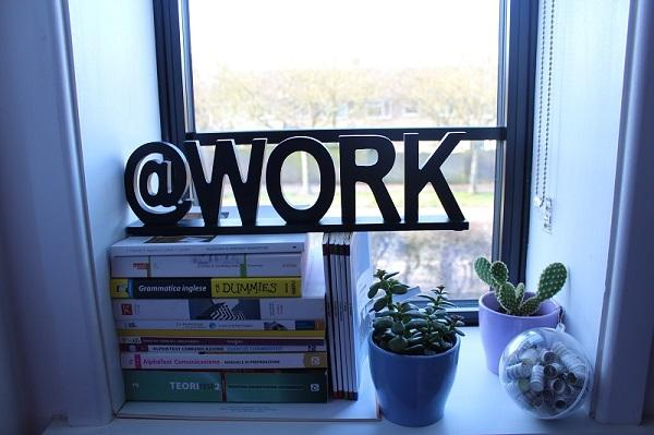 Il lettering in un home office