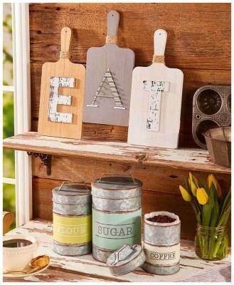Il lettering in cucina, da tigerlilyandme.com