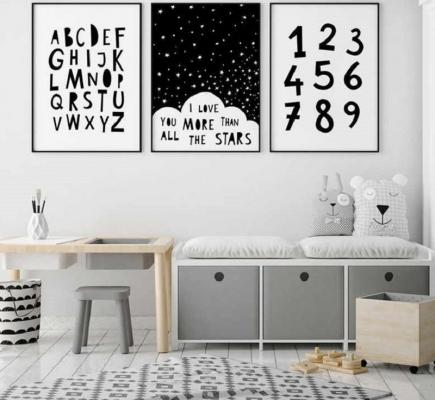 Decorare col lettering la camera dei piccoli, da aliexpress.com