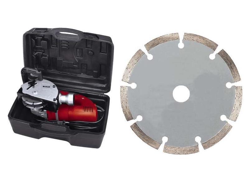 Disco diamantato e valigetta di trasporto dello scanalatore TH-MA 1300 di Einhell