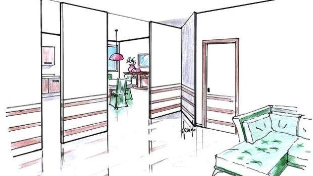 Pareti mobili per dividere gli spazi in modo flessibile