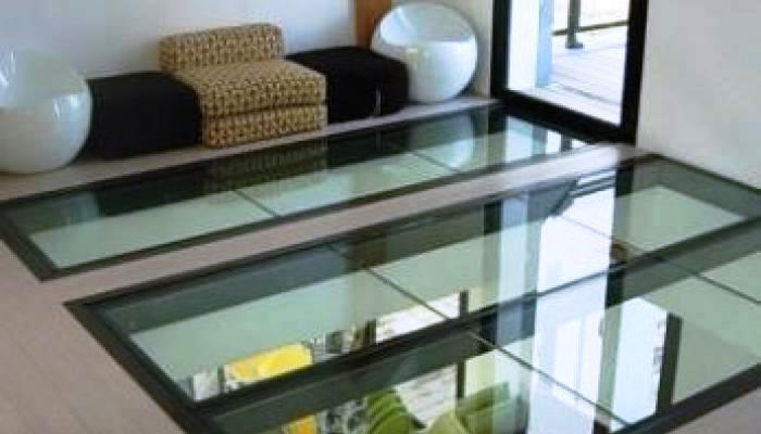 Vetro calpestabile in living - MP Glass