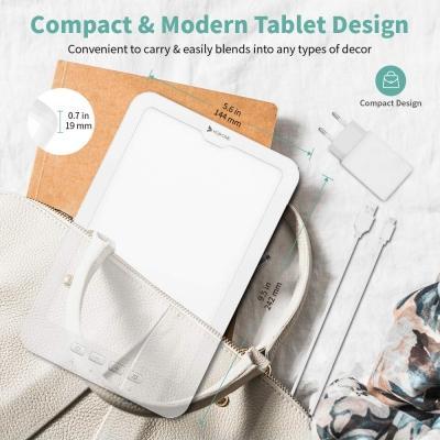HOSOME 10000 Lux SAD Lampada per terapia della luce portatile con alimentazione USB