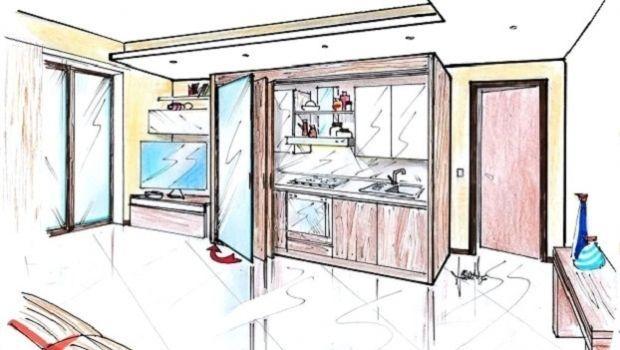 Cucina armadio a scomparsa: soluzione strategica per piccoli spazi
