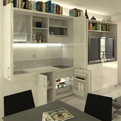 Cucina armadio in living - Minicucine.com