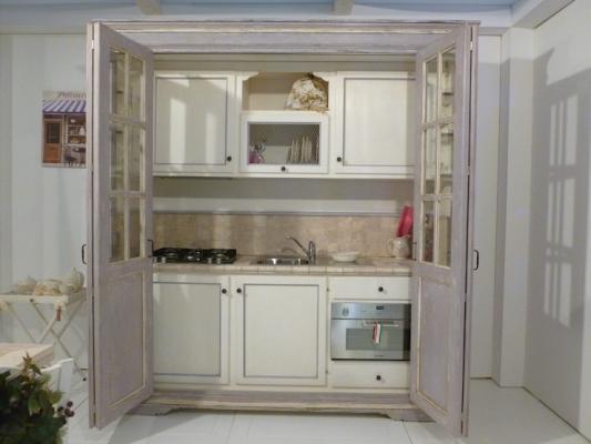 Cucina armadio a vetrina - La Bottega del Falegname